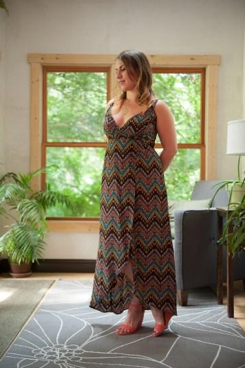 Tatiana Hi-Low Wrap Dress