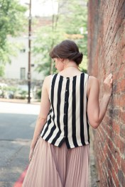 Black and White Striped Top from MinxAsheville.com