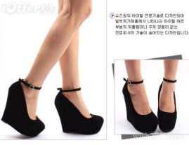 women-ankle-buckle-boot-wedge-high-heels-pump-shoes-50a5