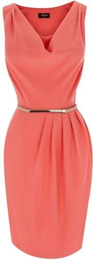 2. Cowl Drape Dress