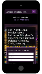 mobile law firm website
