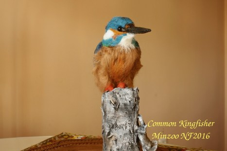 needle felted Common Kingfisher