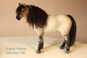 konik horse felted