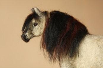 needle felted horse konik wild