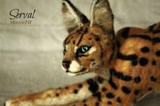 needle-felting-serval