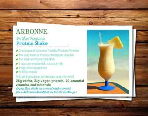 arbonne protein shake recipes