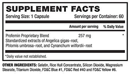 profemin menopause ingredients