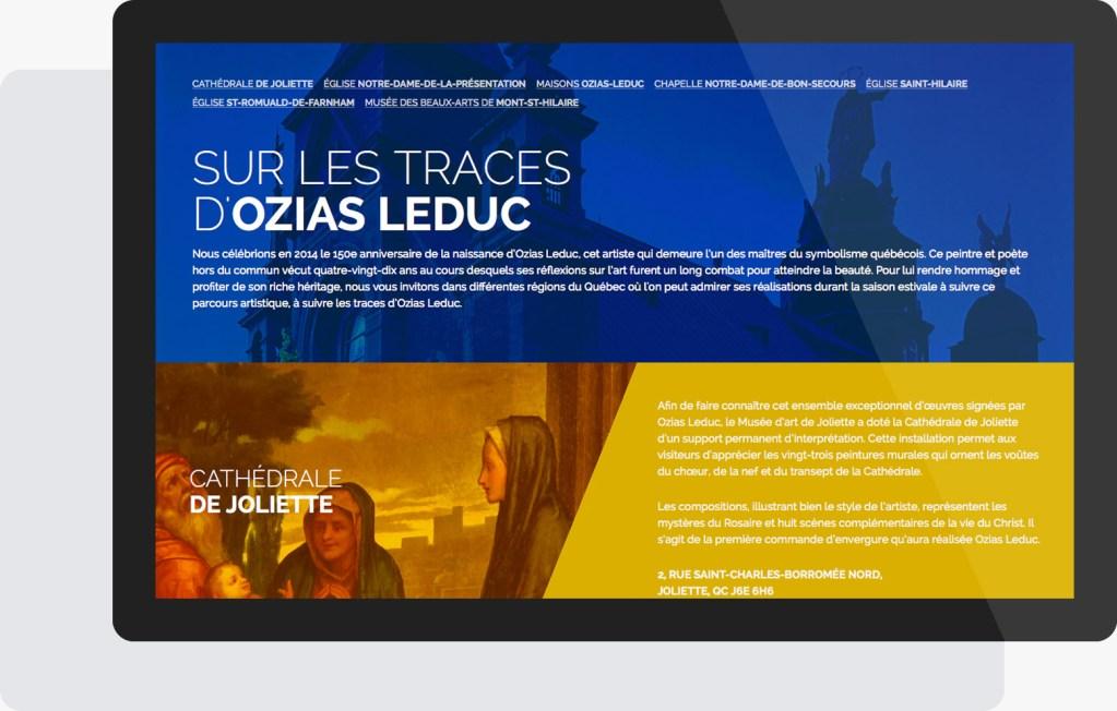 Portfolio Mioudesign - Sur les traces d'Ozias Leduc