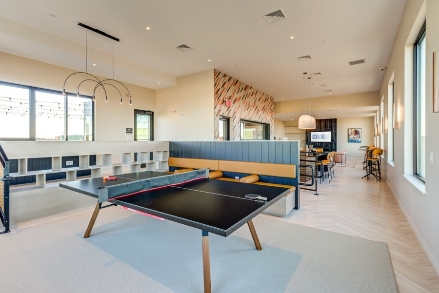 Ping pong table in the community room