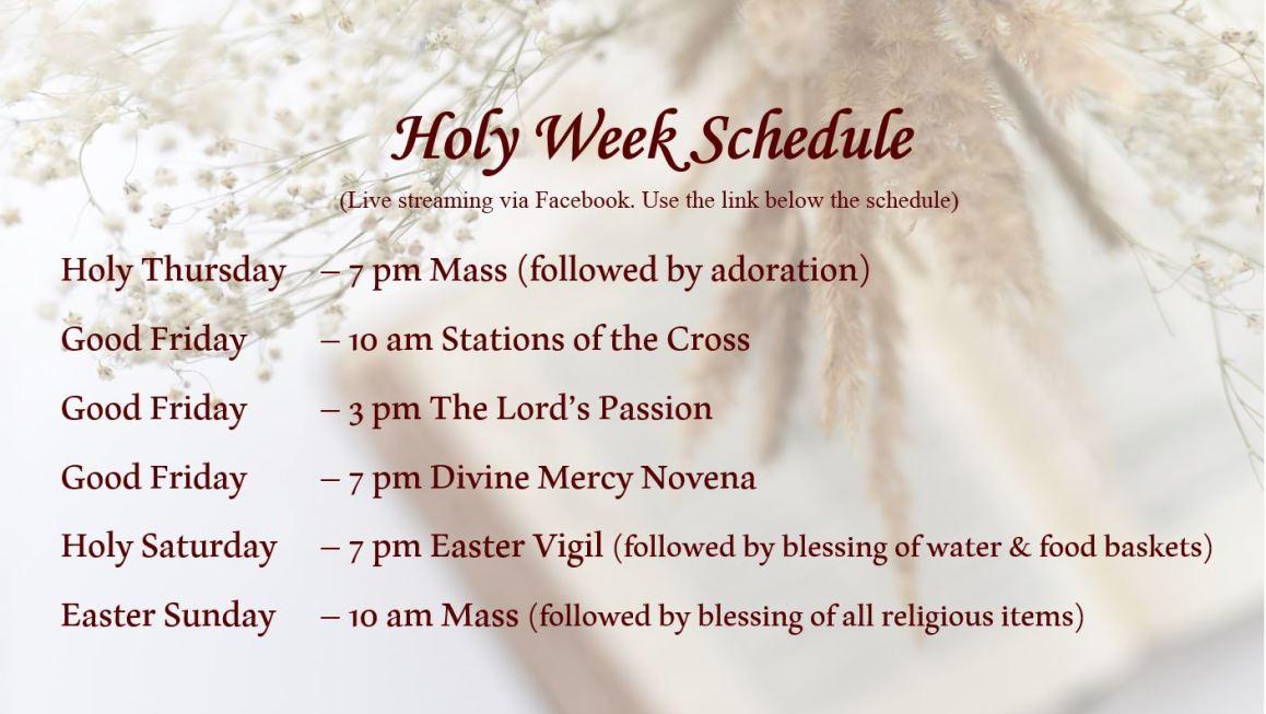 Easter Schedule v4