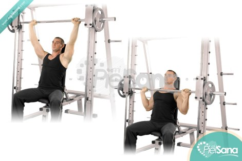 Image result for Shoulder press on smith machine