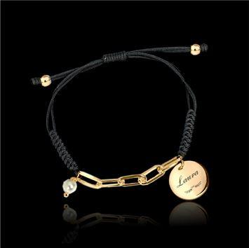 Pulsera con medalla ara personalizar | pulsera cuero con medalla