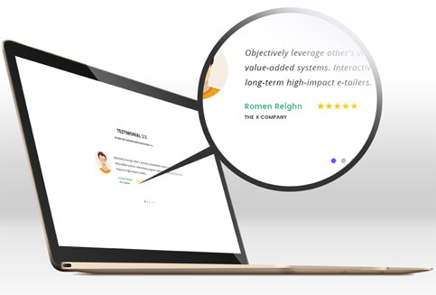 company name testimonial slider plugin
