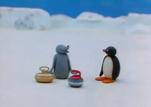Pingu Robby Curling Game