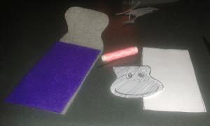 crafting felt phone case
