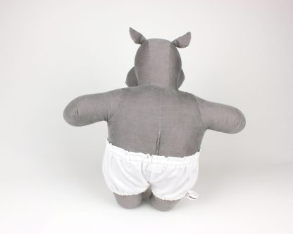 One of our 'basic' Mippo hippo soft dolls in cute white undies!