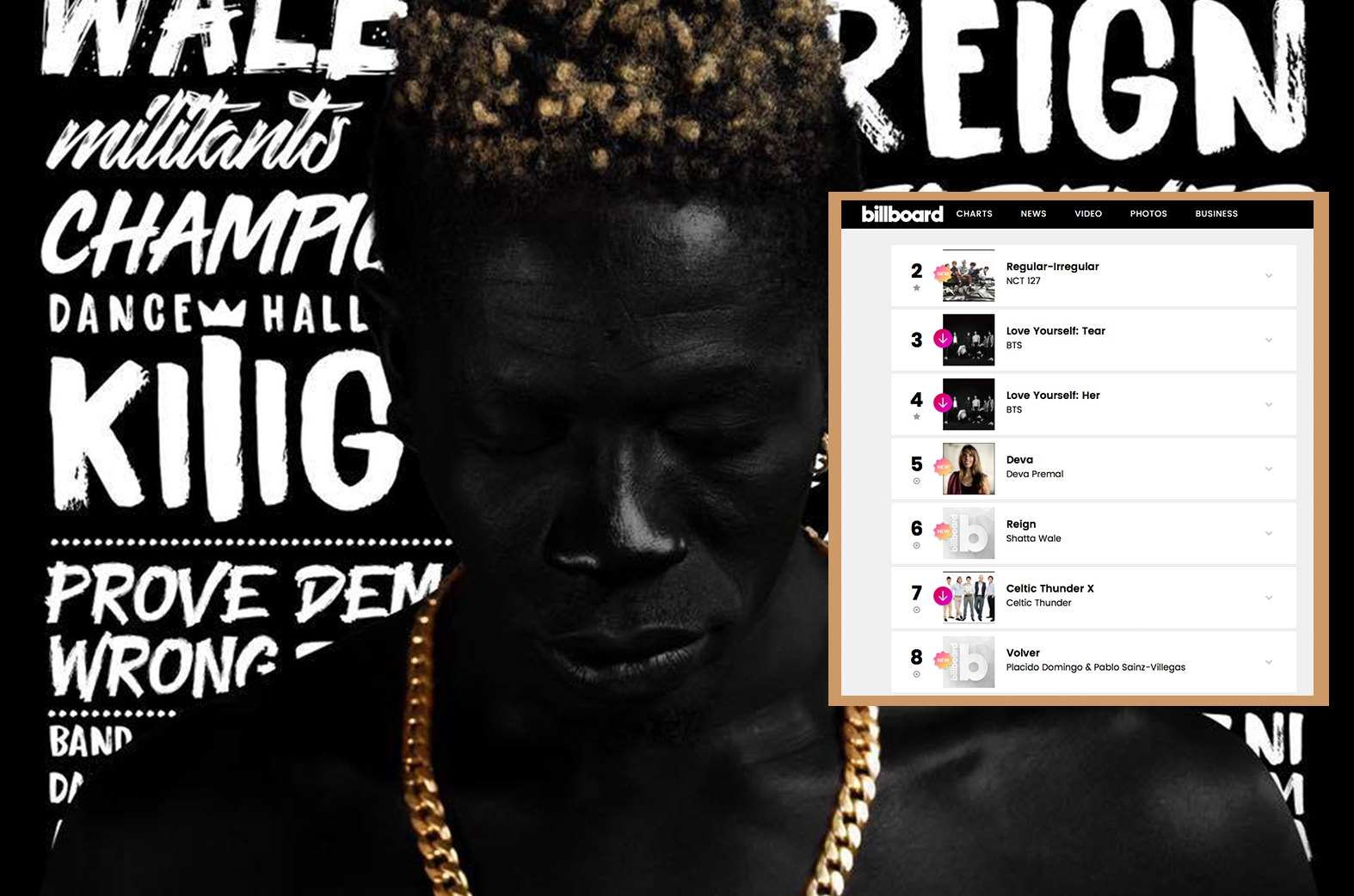 Shatta Wale's Reign Album gets listed on Billboard charts