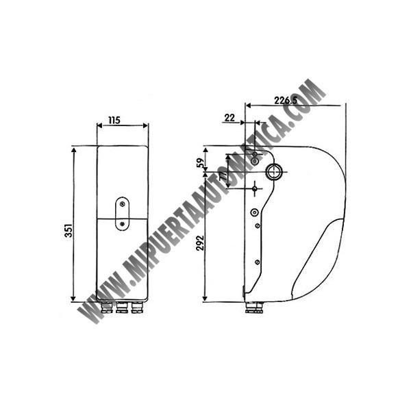 Kit puerta seccional garaje, motor para puerta seccional