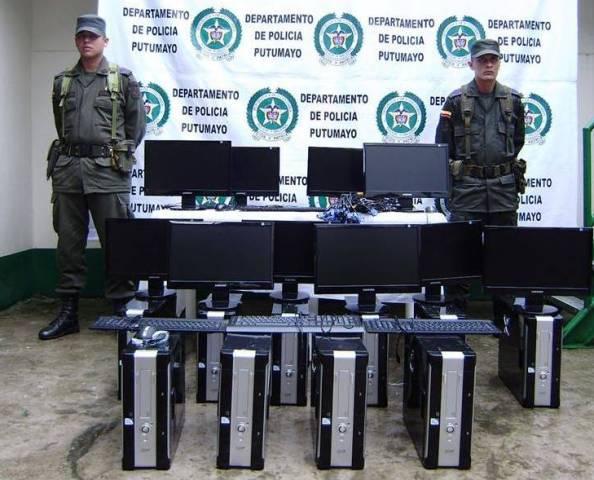 Policía Nacional recupera computadores hurtados
