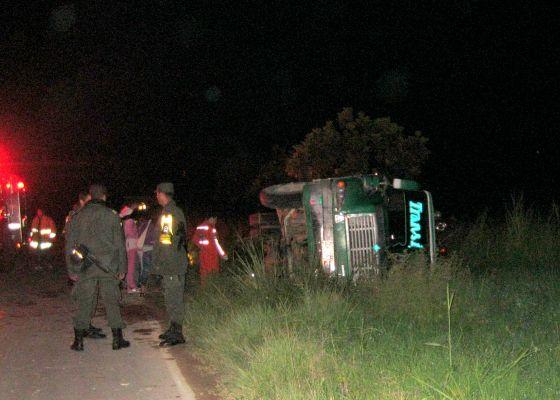 Se accidentó bus de Transipiales en Pitalito