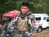 David Burbano, ganador en Motocicleta Kawasaki en la modalidad Enduro 150cc