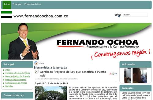 Sitio web de Fernando Ochoa