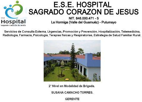 ESE Hospital Sagrado Corazón de Jesús – Valle del Guamuez. Estados Financieros