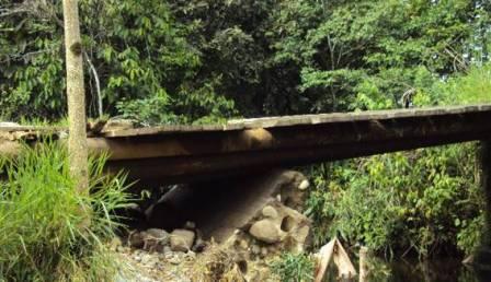 El puente representa  un  peligro  para pasajeros  por los irresponsables conductores.