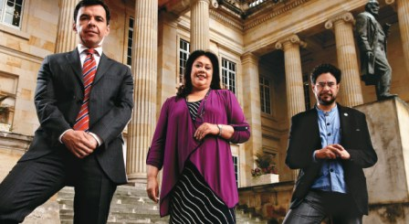 Guillermo Rivera, del Partido Liberal, Gloria Stella Díaz, del Mira e Iván Cepeda, del Polo, buscarán su graduación política al pasar de la Cámara al Senado.