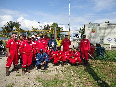 Trabajadores de Weatherford, en el pozo Costayaco 7 realizan paro por nivelación salarial. - Horacio Villarreal