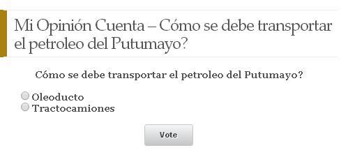 Mi Opinión Cuenta – Cómo se debe transportar el petroleo del Putumayo?