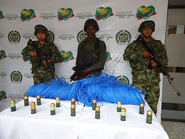 Descubren caleta con explosivos del frente 32 de las FARC en Puerto Caicedo
