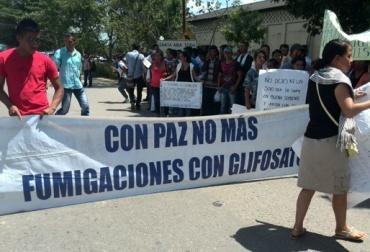 La erradicación de cultivos ilícitos es uno de los puntos más sensibles de la protesta. Foto: Cortesía.
