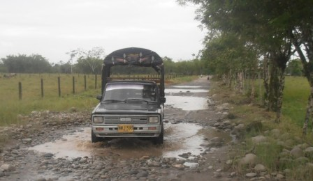 Estado de las carreteras del Valle del Guamuéz.