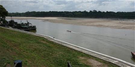 Foto: Abel Cárdenas/EL TIEMPO Río Putumayo a la altura de Puerto Leguizamo.