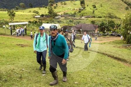 Representantes de las Farc, el Gobierno Nacional y de Naciones Unidas visitan las zonas de concentración para la desmovilización de la guerrilla.(Foto: COLPRENSA /VANGUARDIA LIBERAL)