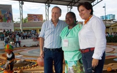 Guido Revelo, María Estela Barreiro y Olga Lucía Arbeláez,