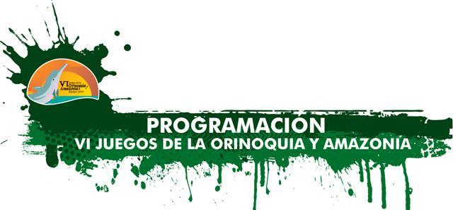 VI Juegos de la Orinoquía y Amazonía 2016 – Programación