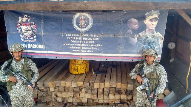 Incautados 22 mt de madera en Caquetá y Putumayo
