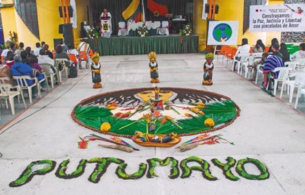 Mandala creado por las comunidades indígenas del Valle del Sibundoy, en el Putumayo. / Germán Moreno