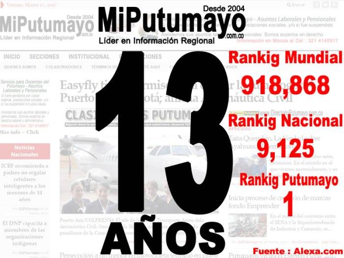 MiPutumayo.com.co – 13 años, un sueño hecho realidad