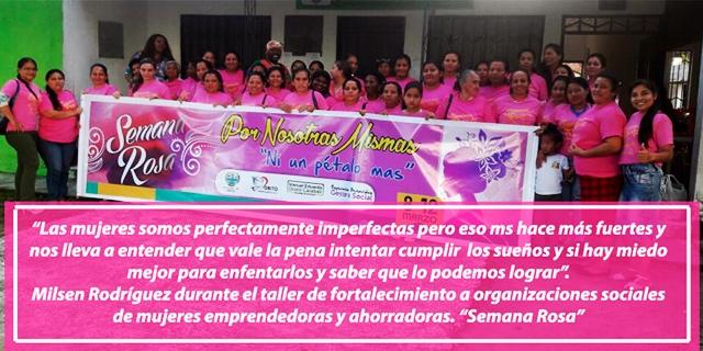 """Finaliza la """"Semana Rosa"""" en conmemoración a la mujer en el municipio de Orito"""