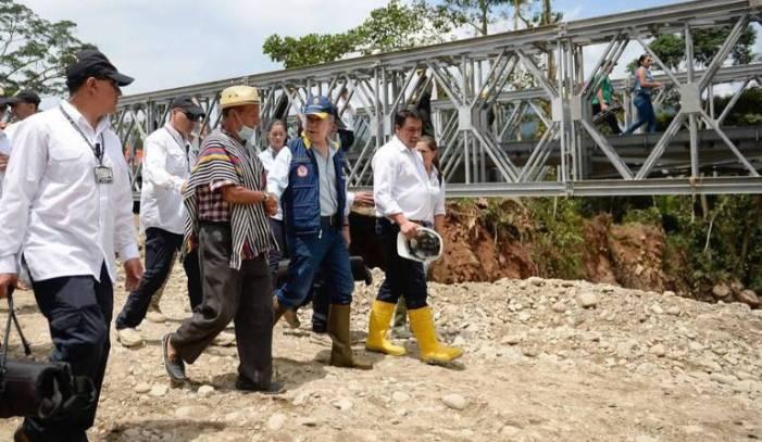 Santos definirá con sus ministros la ruta para la reconstrucción de Mocoa