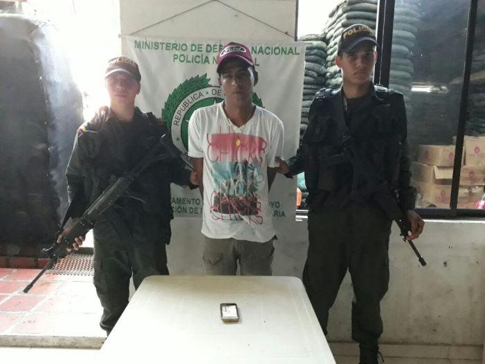 Ladrón de celulares, capturado en flagrancia en Puerto Umbría (Villagarzón)