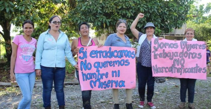 Las mujeres cultivadoras de coca del sur de Colombia se movilizan por la equidad