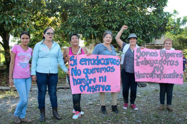 El primer encuentro de Mujeres Cocaleras del Sur de Colombia se dio el pasado 17 y 18 de marzo, en Puerto Asís (Putumayo). /Cortesía.
