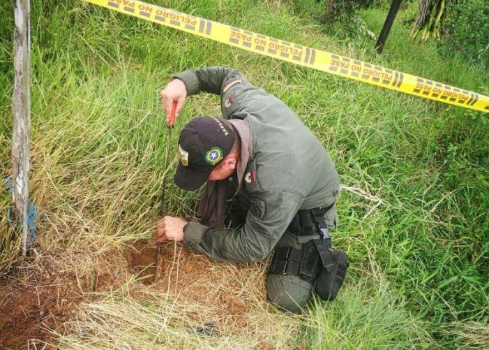 En Puerto Caicedo, Policía Putumayo evita tragedia con mina antipersona