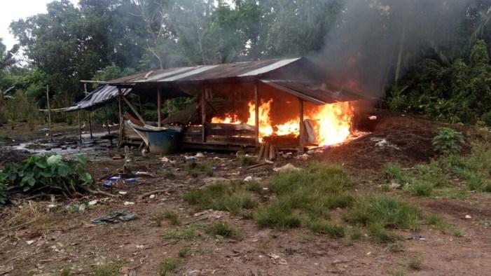 En San Miguel Putumayo, el Ejército destruyo 3 laboratorios para el procesamiento de pasta base de coca