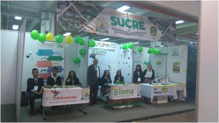 Estudiantes del Putumayo en Expociencia y Tecnología