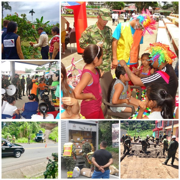 Héroes del Ejército, artesanos de la paz en Putumayo